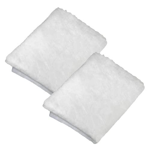 2x Fettfilter für Dunstabzugshaube 57x47 cm zuschneidbar I Fettfilter Vlies für Abzugshaube Küche I Universal einsetzbarer Flauschfilter