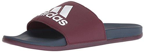 adidas Men's Adilette CF+ Logo Slide Sandal, Maroon/Collegiate Navy/White, 5 M US
