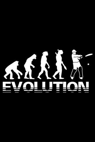 Cricket Evolution: A5 Liniertes Notizbuch auf 120 Seiten - Cricket Notizheft | Geschenkidee für Cricketspieler, Vereine und Mannschaften