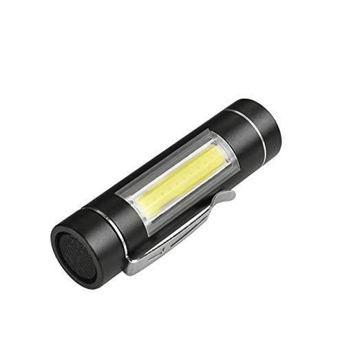 LED COB Mini Flashlight antorcha LED 1 Modo Use 14500 Batería para leer Camping Linterna de trabajo Linterna Portátil Al aire libre (Emitting Color : Package A)