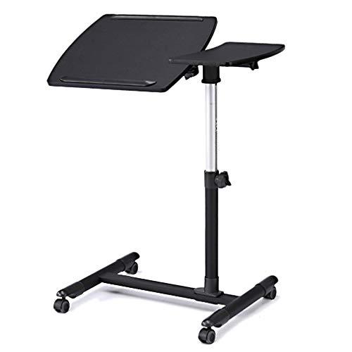 CYLQ Kantelbare computertafel met stahulp met muismat tafel, in hoogte verstelbaar van 58,5 – 85 cm, bureau met sofa/nachtkastje, ziekenhuis, tafelstandaard, 4 kleuren