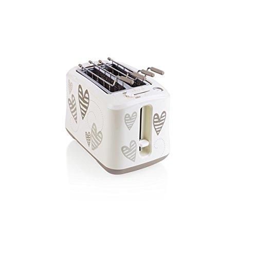 Brandani 54049BATTICUORE Toaster, ABS/Edelstahl, Weiß