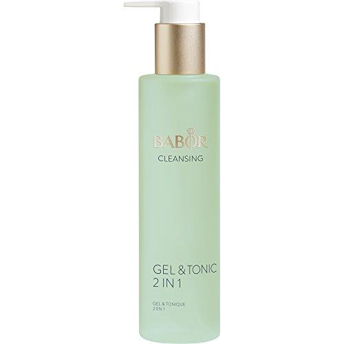 BABOR CLEANSING Gel & Tonic 2 in 1, fettfreies Reinigungsgel und Gesichtswasser in einem, gut geeignet bei unreiner Haut, einfach & schnell, 200ml