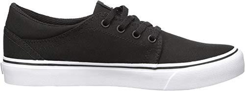 DC Trase TX, Zapatillas de Skateboard para Hombre, Black/White, 40.5 EU