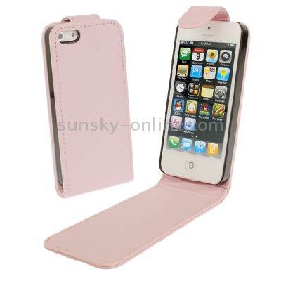 Zhongcheng La Caja del teléfono Suave Textura y Estuche de Cuero for el iPhone 5 y 5s Y SE & SE Abajo Abierta (Rosa) (Color : Rosado): Amazon.es: Electrónica