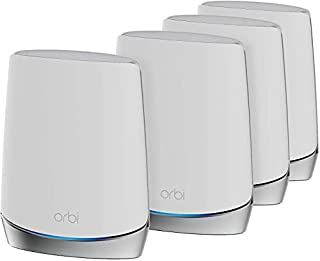 NETGEAR Orbi Whole Home Tri-Band WiFi 6 Mesh System (RBK754) | WiFi 6 Router with 3 Satellite Extenders | Coverage up to 8,000 sq. ft. and 40+ Devices | 11AX Mesh AX4200 WiFi (Upto 4.2 Gbps) (B08KH96HG3) | Amazon price tracker / tracking, Amazon price history charts, Amazon price watches, Amazon price drop alerts