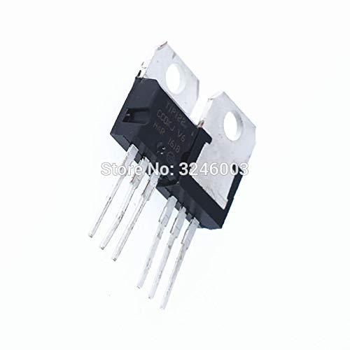 MAJOR BRANDS - HAT2486 Major Brands TIP122. Transistor, Darlington, NPN, 100 Volt, 5 Amp, 3-Pin, 4.83 mm W x 9.4 mm H x 10.67 mm L (Pack of 10)