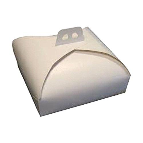 LOT DE 25 BOÎTE À TARTE 27 CM X 27 CARTON BLANC PERLE IDÉAL POUR UN GÂTEAU BOX FOR SWEETS ALIMENTAIRE EN PAPIER