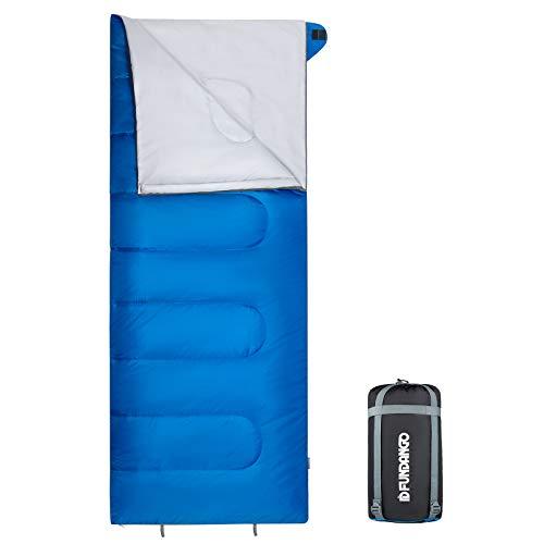 FUNDANGO Ultraleichte und Kompakte Schlafsack, Deckenschlafsack Warm Outdoor 100% Baumwolle Hohlfaser für Camping,Wandern sonstige Aktivitäten im Freien Toll für Kinder Erwachsene 190 x 75cm