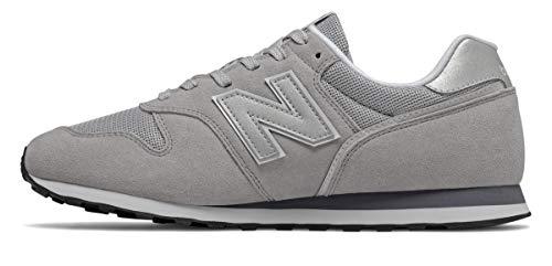 New Balance Herren ML373 Sneaker, Grau (Grey/White Ce2), 44.5 EU