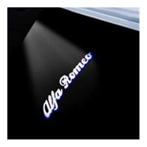 Coche led luz puerta Compatible con 2 piezas de Alfa Romeo 159 156 147 Giulietta Mito Stelvio Giulia araña Brera coche llevó la luz de puerta Bienvenido Logo de la lámpara de proyección de láser Luces