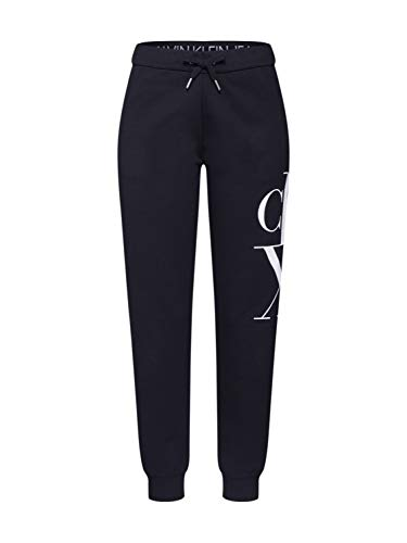 Calvin Klein Jeans Mirrored Monogram Jogging Pant Pantaloni, CK Nero, M Donna