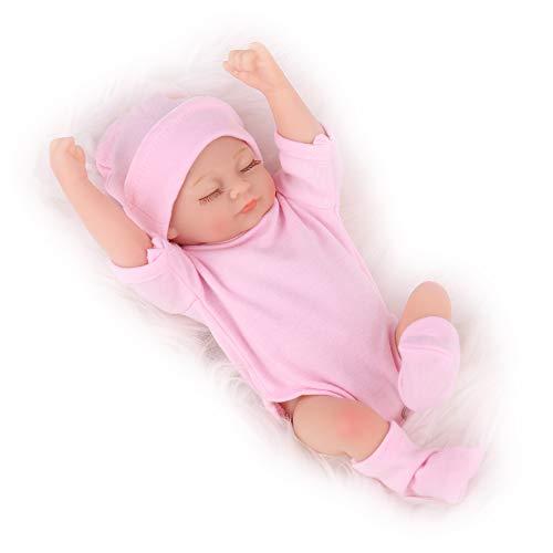 Kaydora Reborn Newborn Baby Doll, 10 inch Full Body Silicone Sleeping Girl, Lifelike Realistic
