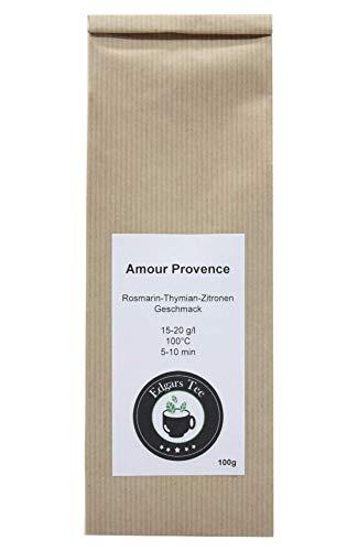 Edgars Tee - Amour Provence - hochwertiger Kräutertee mit Rosmarin-Thymian-Zitronen Geschmack - loser Tee - 100g-Pack