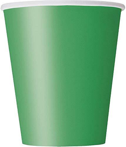 Unique Party Pappbecher,smaragdgrün, 270 ml,8er Packung