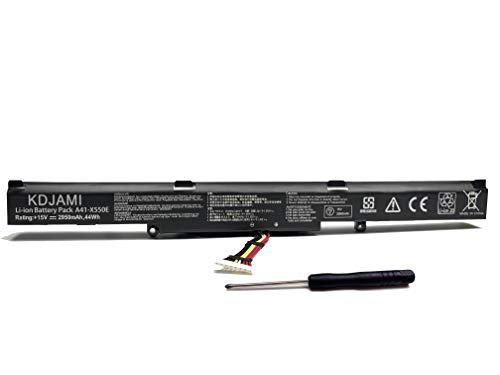 KDJAMI Notebook-Akku A41-x550e für Asus A450J A450JF X450J X450JF K550E K550DP d451 V k550d K751L F751M (15 V/44 Wh/2950 mAh)
