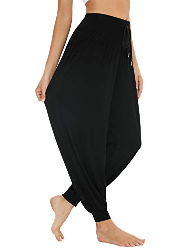 Sykooria Damen Harem Hosen Yoga Pilates Super Weich Modale Baumwolle Pumphose