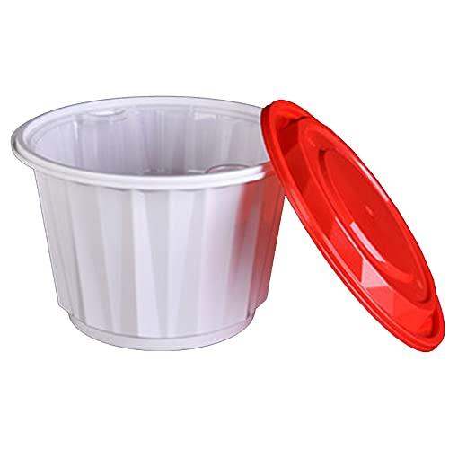 contenedores de alimentos desechables Fiambrera Desechable De Doble Capa, Tazón De Sopa Y Cubo De Papilla, Fiambrera Circular Respetuosa Con El Medio Ambiente, Caja De Prep(Size:200 pcs,Color:Style 1)