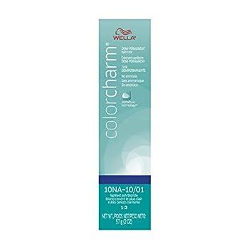 Wella Color Charm Demi Permanent Hair Color 10NA  10/01  Lightest Ash Blonde 2 oz