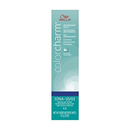 Wella Color Charm Demi Permanent Hair Color, 10NA (10/01) Lightest Ash Blonde, 2 oz