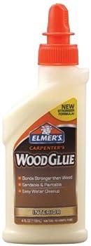 Elmer s Products Inc E7000 Carpenters Wood Glue 4 Fl oz  Yellow
