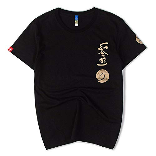 Camiseta de Manga Corta con Cuello Redondo Ancho Suelto de algodón Estampado Personalizado para Hombres
