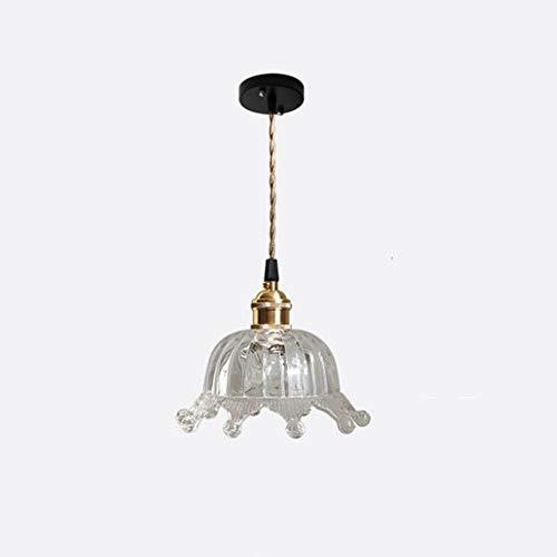 SDFDSSR Lámpara Colgante Nórdica Creativa De Vidrio Transparente, Lámpara Colgante con Corona De Una Sola Cabeza, Lámpara Colgante Colgante E27 (17 Cm), Adecuada para Habitación De Niños, Dormitorio,