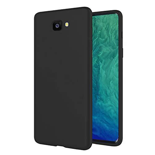 TBOC Funda para Samsung Galaxy J4+ - J4 Plus - Carcasa Rígida [Negra] Silicona Líquida Premium [Tacto Suave] Forro Interior Microfibra [Protege la Cámara] Antideslizante Resistente Suciedad Arañazos