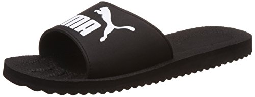PumaPurecat - Scarpe da Spiaggia e Piscina Unisex adulti, Nero (Black-white 01), 47 EU (12 UK)