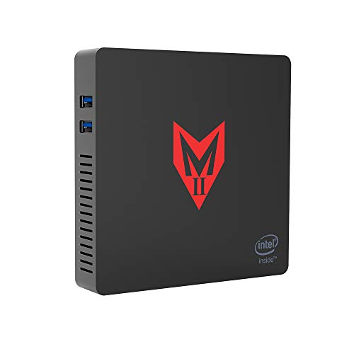 MII-V Mini PC Desktop Ordenador License Windows 10 Multimedia Office Computer, 4GB Ram 64GB SSD, HDMI+VGA Dual Display, Intel Apollo Lake Celeron J3355 VESA Mount,Dual WiFi