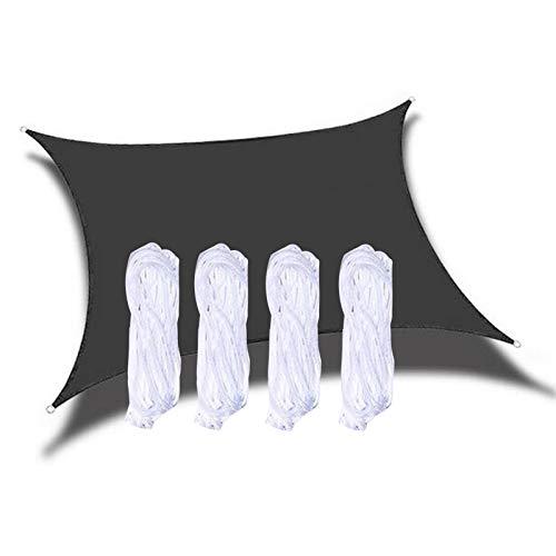 XQHD Toldo Vela de Sombra Impermeable Rectangular, toldos y Velas Transpirable para Patio, Exteriores, Jardín,Black-2x1.8m(6x5.4feet)