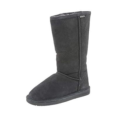 BEARPAW Women's Emma Tall Fashion Boot, Charcoal, 6 Medium US