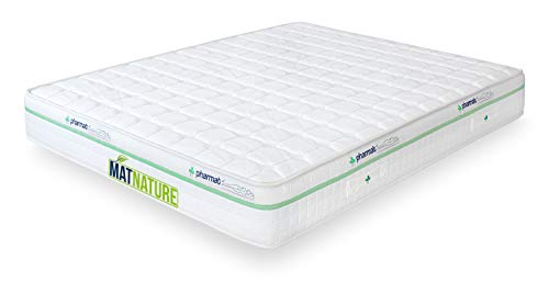 Matnature Matratze Modell Pharmat | Matratze 25 cm hoch | Visko-Matratze | extra anpassungsfähige und feste Matratze | Anti-Milben-Matratze | hypoallergen | alle Größen 135 x 190 cm