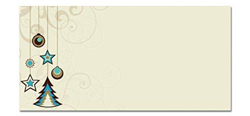 """Sigel DU216 Briefumschläge Weihnachten """"Decoration"""", DIN lang, 25 Stück"""