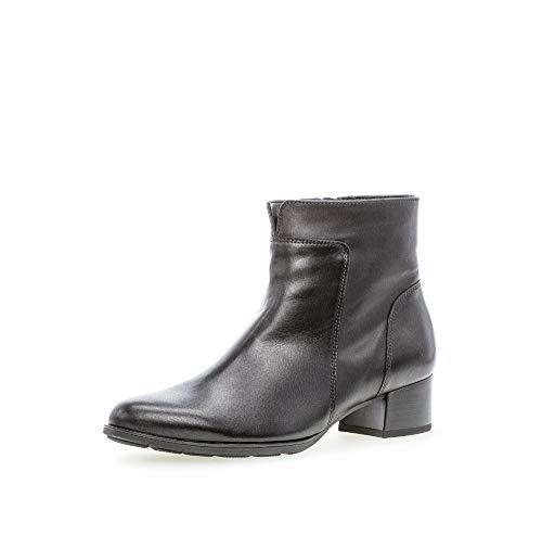 Gabor Damen Stiefeletten, Frauen Ankle Boots,Best Fitting,Hovercraft- Luftkammernsohle,Reißverschluss,Wechselfußbett,schwarz,38.5 EU / 5.5 UK