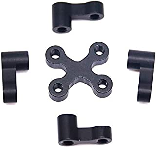 HONGYI Aluminum Alloy Black 4+1 pcs for FPV Quadcopter RC Drone Frame Drone Spare Parts (Color : Black)