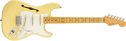 Fender エレキギター Eric Johnson Thinline Stratocaster®, Maple Fingerboard, Vintage White 0113602741