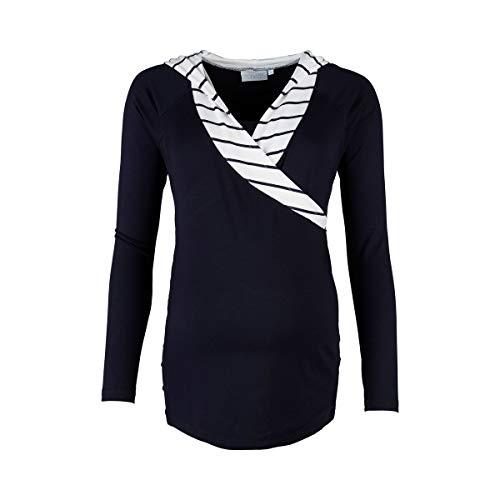 2HEARTS Stillshirt Wellness mit Kapuze Marine T-Shirt de Grossesse T-Shirt de Grossesse, Marine