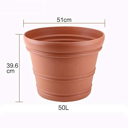 Grande Jardin Plein air Épaissir Plastique Pot de Fleur Simple Pot de Fleur-C 50L
