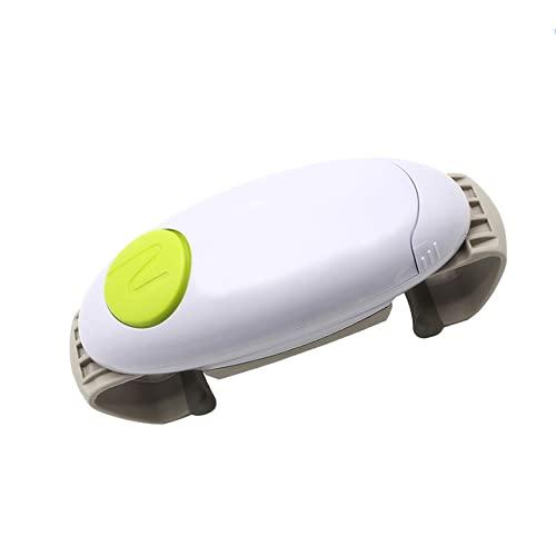 Abridor de frascos eléctrico automático Gadget de Cocina Abridor de frascos eléctrico Resistente y Resistente para nuevos frascos sellados, Manos Libres fácil de Abrir con Menos Esfuerzo Abridor