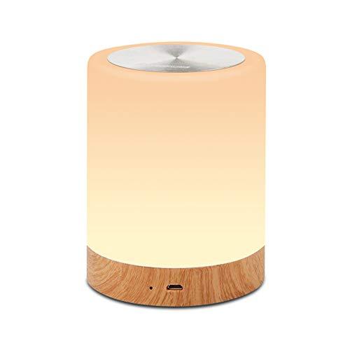 Led Touch Control Nachtlicht Mit Wiederaufladbarer Interner Batterie, Dimmer Smart Nachttischlampe Dimmbare Rgb-Farbe