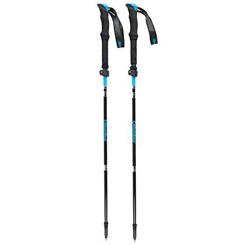 COLUMBUS Bâtons de Marche FCT 03 BB Set Bâtons Repliables Bâtons de Trail Running Fibre de Carbone Couleur Bleu et Noir