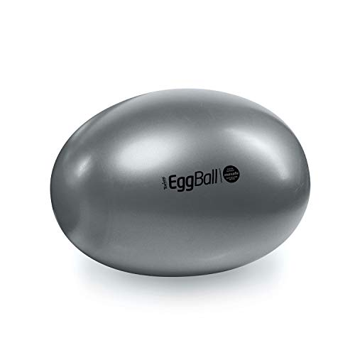 Original PEZZI Eggball MAXAFE 45 cm grau Sitzball Gymnastickball Pezziball Ball