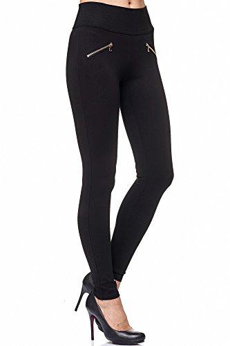 Elara Miss Anna Damen Stretch Hose Skinny Jegging Chunkyrayan A08 Black 40 (L)