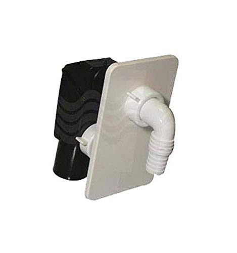 Bonomini-Diám. 40 - Sifón para lavadora empotrada con placa blanca
