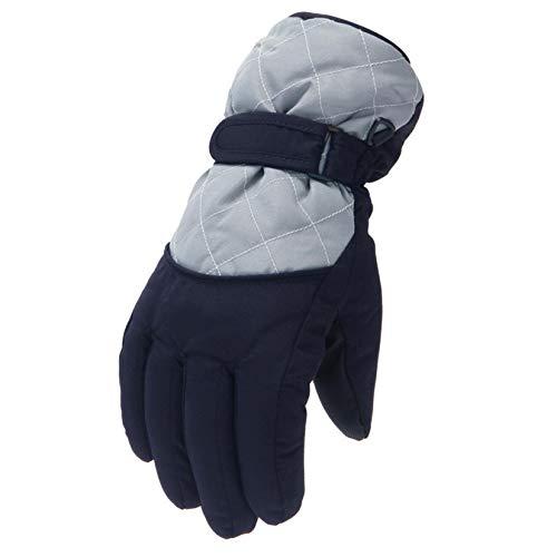 LIHAEI Kinder Skihandschuhe Warme Handschuhe,Kinder Gloves Winter Wasserdichte Snow Cartoon Ears,Windproof,Sports,für 6-12 Jahre Jungen Mädchen Skifahren Wandern Radfahren (Gray-B)