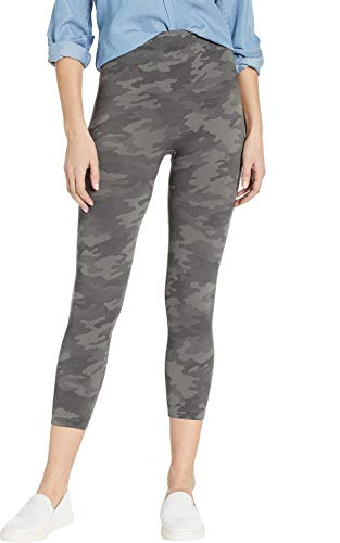 SPANX Look At Me Now Cropped Seamless Leggings (20099r), Sage Camo, l