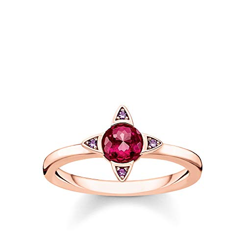 Thomas Sabo Damen-Ring Farbige Steine rosé 925 Sterlingsilber roségold vergoldet TR2263-540-10-56