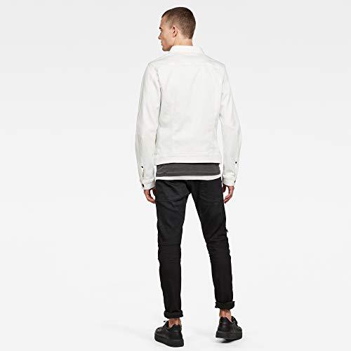 G-Star Raw Men's Arc 3D Slim Denim Jacket Sewn On, Milk, Large