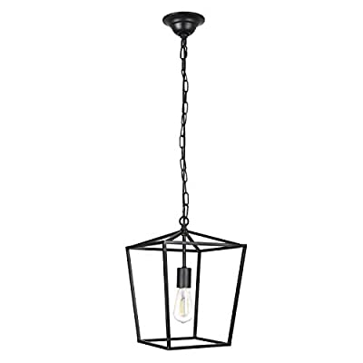 Paragon Home Geometric Pendant Light Fixture for Kitchen and Dining Room, Polygon Industrial Pendant Lighting, Chandelier, E26 Base,(Bulb Not Included)